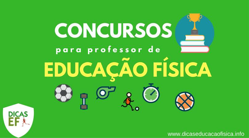 Concursos professor de Educação Física: Concursos para Professor de Educação Física