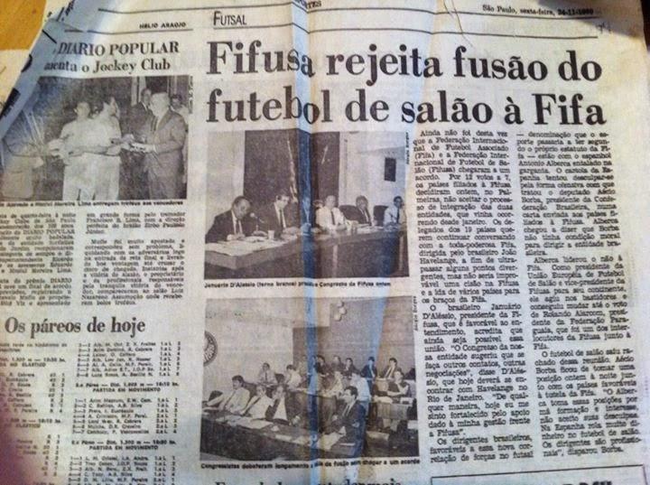 A FIFA assume o Futsal