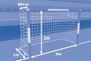 Qual Tamanho das traves do Futsal