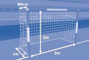 Traves ou metas de Futsal - Futsal Regras e Fundamentos