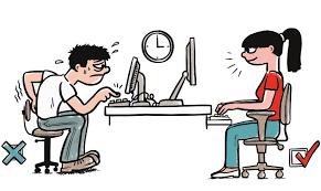 Principais Vícios Posturas: a melhor postura para trabalhar