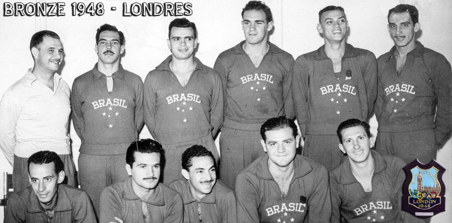 Em 1948 a equipe masculina do Brasil conquistou medalha de Bronze no jogos Olímpicos de Londres