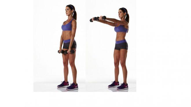 Treino de ombro: elevação frontal é um dos ótimos exercícios para ombro